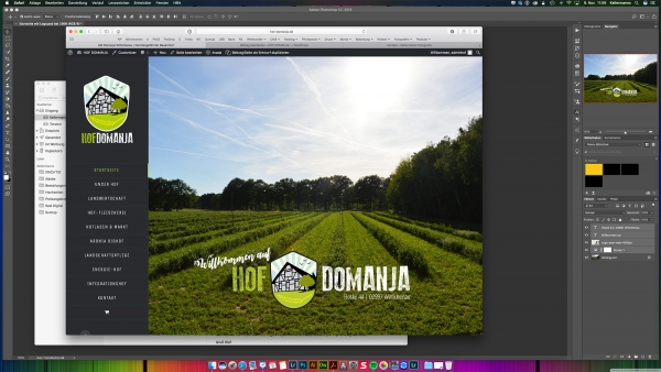 Neue Webseite Hof Domanja