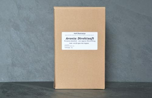 Aronia Direktsaft 3L Box vom Hof Domanja