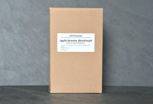 Apfel-Aronia Direktsaft 3L Box vom Hof Domanja