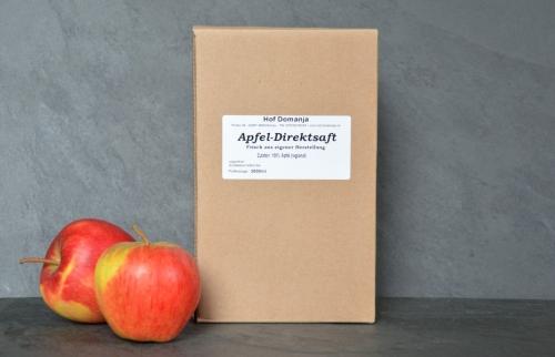 Apfel Direktsaft 3L Box vom Hof Domanja